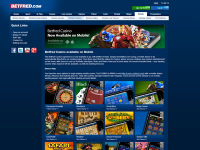 Betfred Mobile Casino